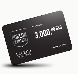Poklon kartica 3000 dinara!