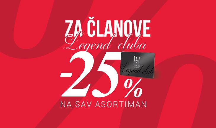 Za članove LC kluba -25% na sav asortiman!