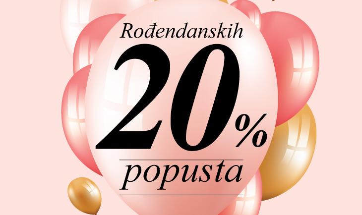 -20% popusta povodom rođendana TC Promenada