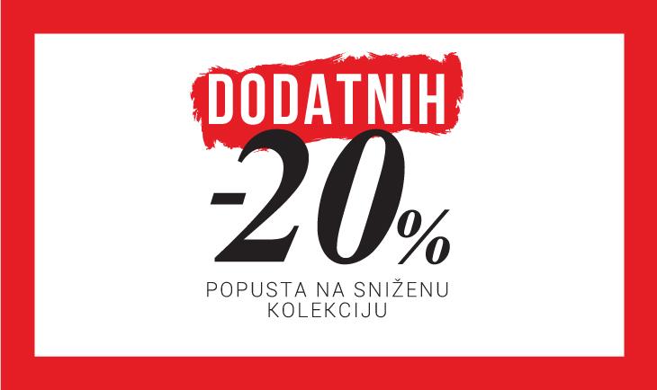 Dodatnih -20% na sniženi deo kolekcije JZ19