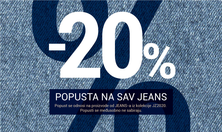 20% na sav jeans asortiman iz kolekcije jezen/zima 2020