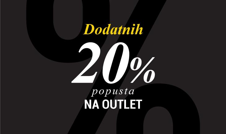20% popusta na outlet sekciju
