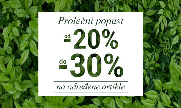 Prolećni popust od 20% do 30%