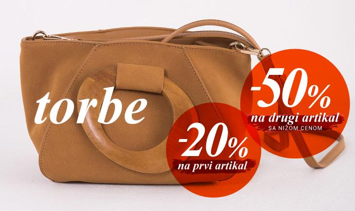 Jedna torba -20%, druga torba -50%