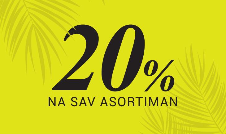 20% popusta na sav asortiman