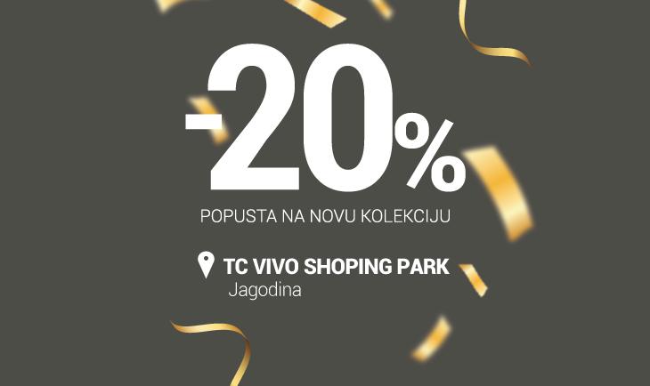 TC Vivo shopping park Jagodina rođendanski popust!