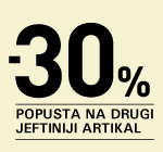 30% na drugi, jeftiniji artikal.
