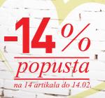 -14% na 14 artikala do 14. februara