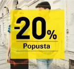 -20% popusta na artikle iz nove kolekcije