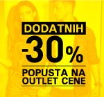 Dodatnih -30% na OUTLET