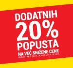 -20% popusta na već snižene outlet cene