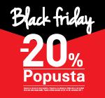 Black Friday -20% popusta