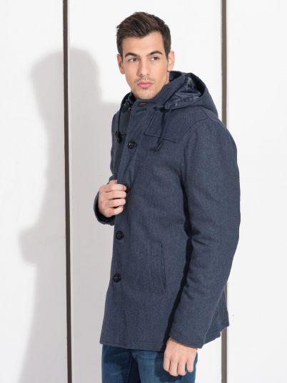 Muška teget zimska jakna