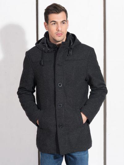 Muška crna zimska jakna