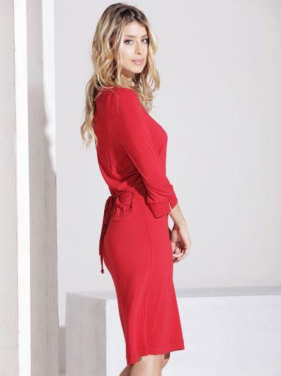 Crvena elegantna haljina