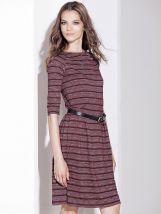 Prugasta bordo haljina