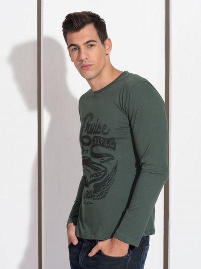 zelena muška majica