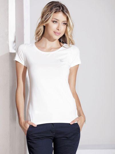 Bela ženska basic majica