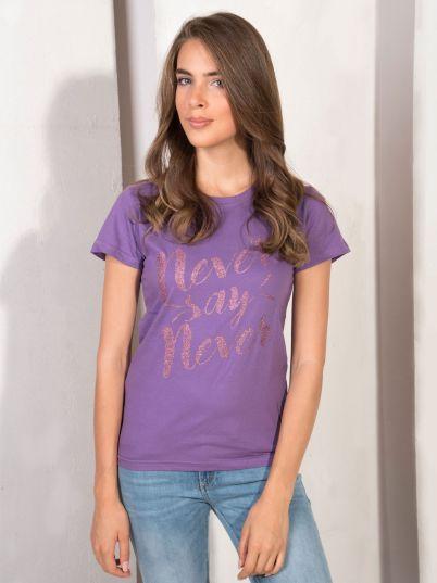 Ljubičasta majica sa printom