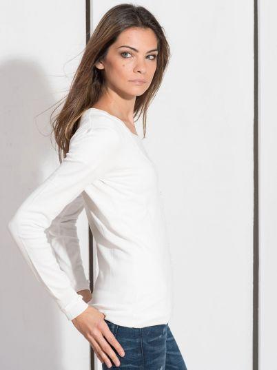 Basic beli džemper
