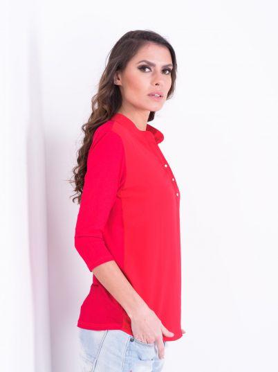 Ciklama bluza elegantna
