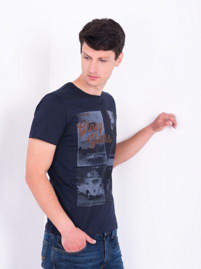Teget muška majica