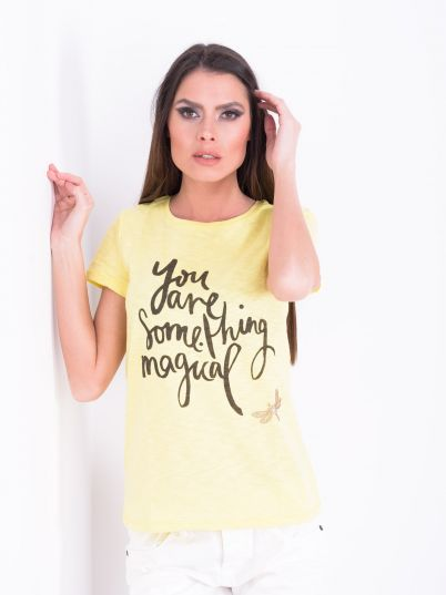 Žuta ženska majica
