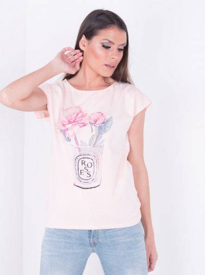 Majica sa ružom