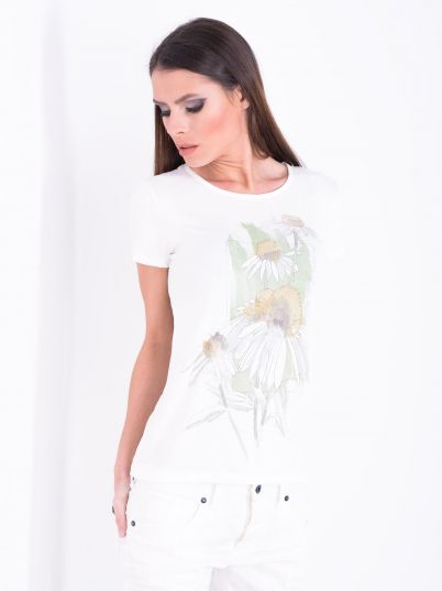 Majica sa belim radama