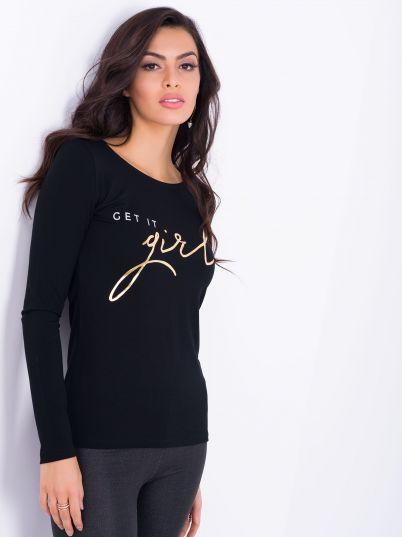 Crna ženska majica
