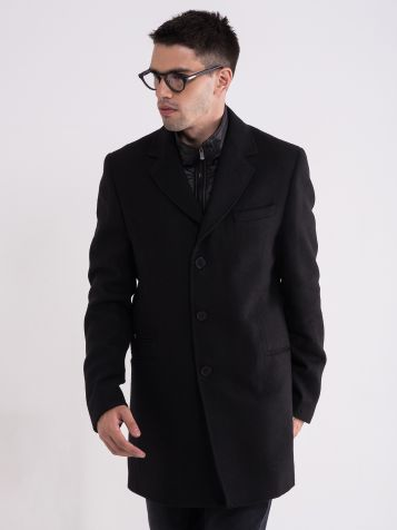 Muški crni kaput
