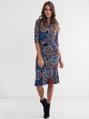 Ženska haljina atraktivnog dezena