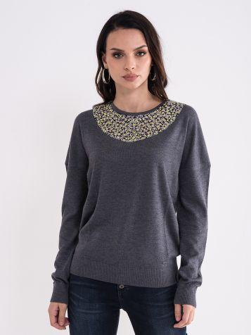 Sivi ženski džemper