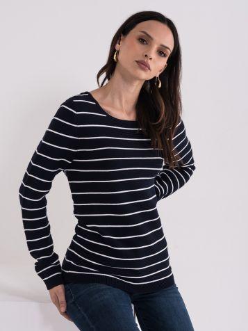 Pamučni mornarski džemper
