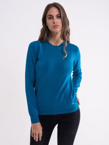 Ženski tamno tirkiz džemper