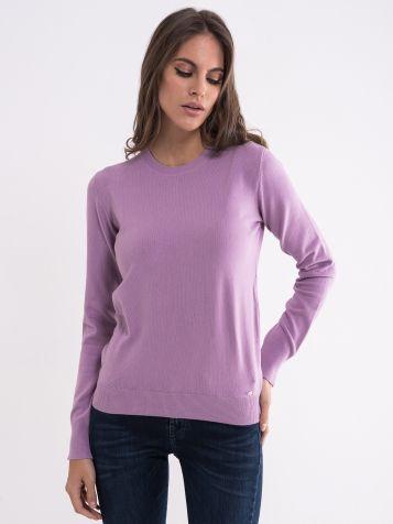 Ženski svetlo lila džemper