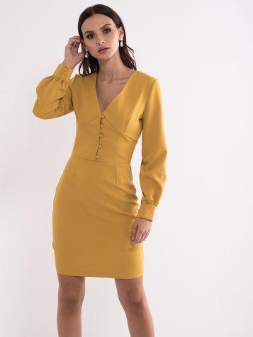 Senf žuta haljina