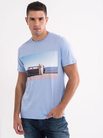 Svetlo plava muška majica
