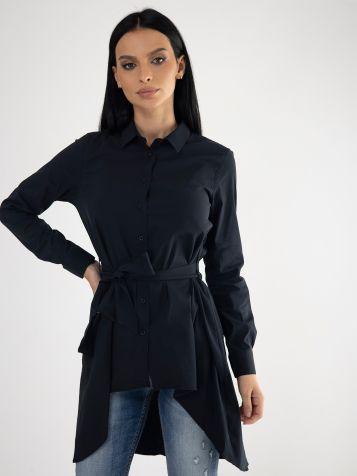 Crna košulja sa pojasom
