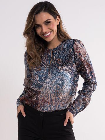 Dezenirana viskozna bluza
