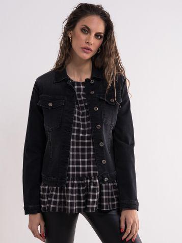 Crna Jeans jakna