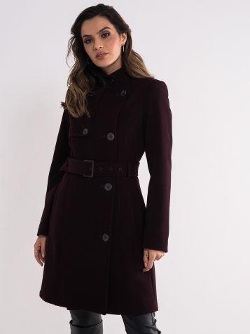 Ženski tamno ljubičasti kaput