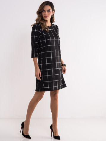 Crna haljina tri četvrt rukava