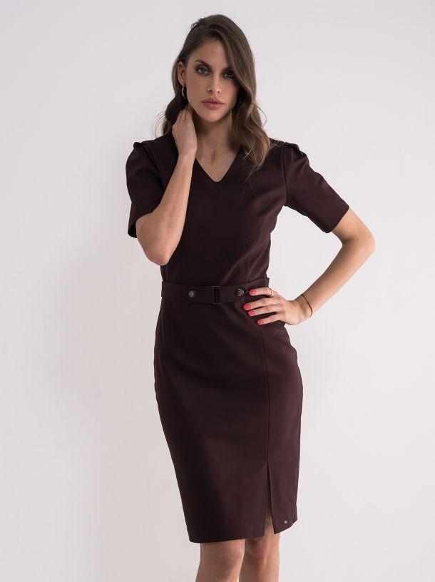 Poslovna bordo haljina