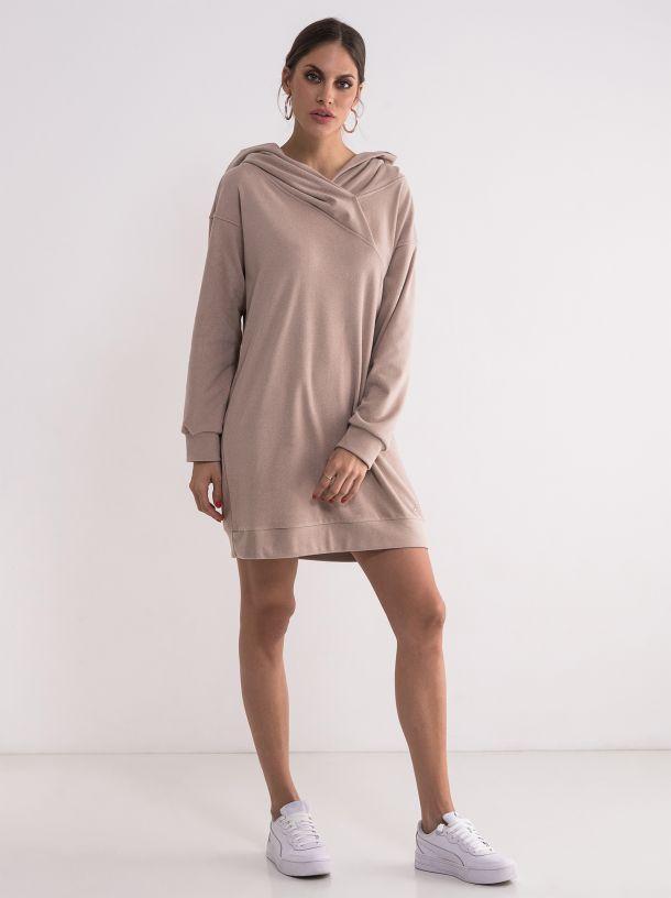 Duks haljina u puder boji