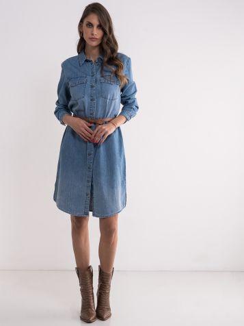 Pamučna teksas haljina