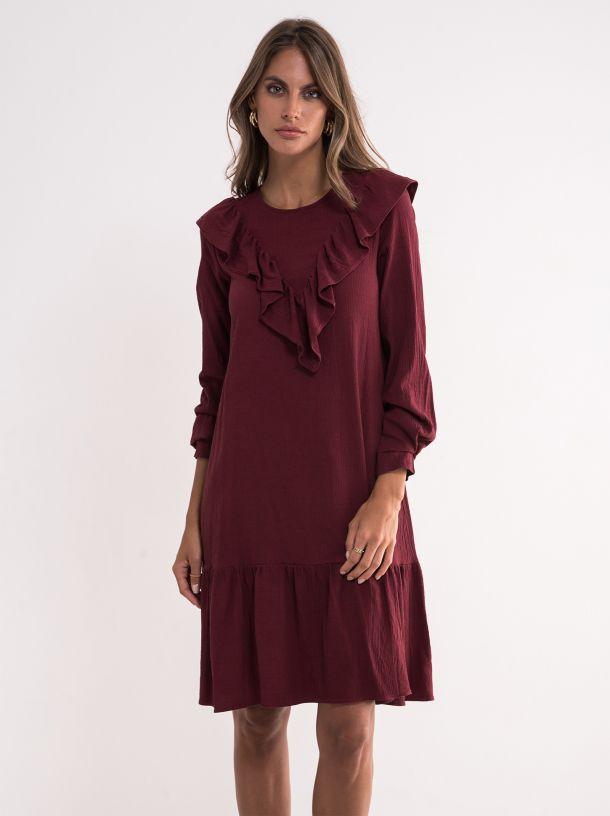 Bordo haljina sa karnerima