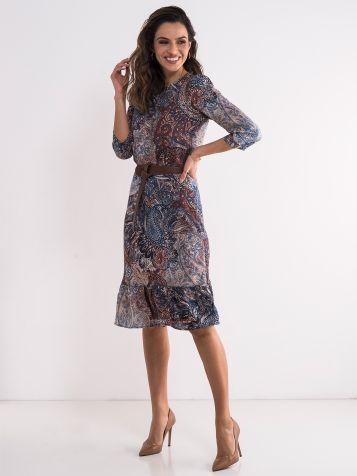 Dezenirana haljina tri četvrt rukava
