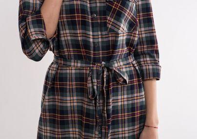 Karirana haljina - košulja