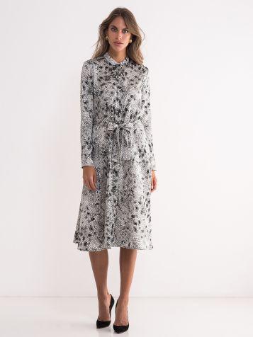 Elegantna  haljina dugih rukava
